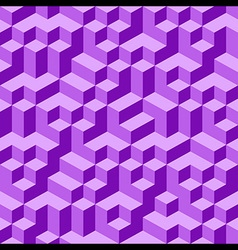 Violet geometric volume seamless pattern vector