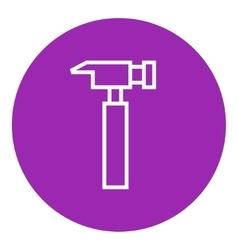 Hammer line icon vector