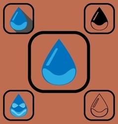 Water drop icons set vector