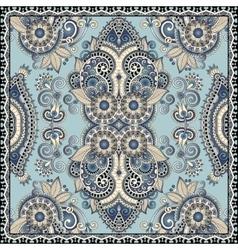 Authentic silk neck scarf or kerchief square vector