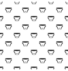 Baby diaper pattern simple style vector