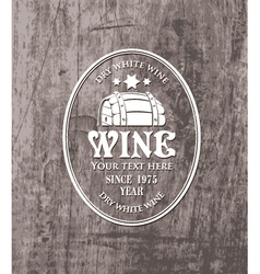 Barrel wine vector image