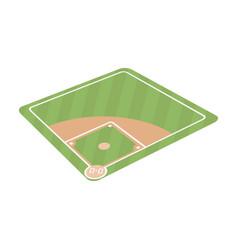baseball court baseball single icon in cartoon vector image vector image