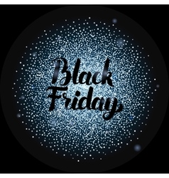 Black friday lettering over silver vector