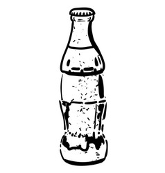 cartoon image of bottle icon coke drink symbol vector image