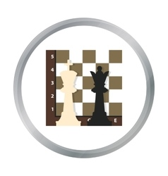 Chess icon in pattern vector