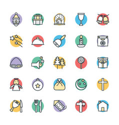 Christmas cool icons 3 vector