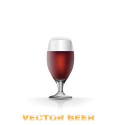 Dark beer glass vector
