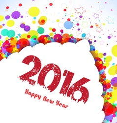Happy new year 2016 Abstract colorful banner vector image vector image