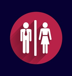 Man woman restroom sign icon button logo symbol vector