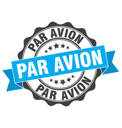 Par avion stamp sign seal vector