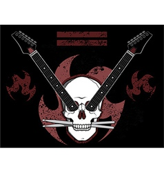 Rock N Roll Skull vector image