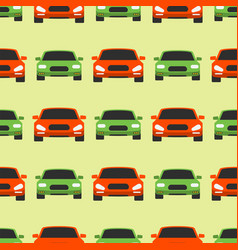 Seamless pattern luxury car transportation vector