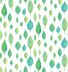 Seamless watercolor leaf pattern vector image