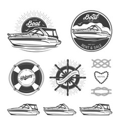 set of nautical logos vector image vector image