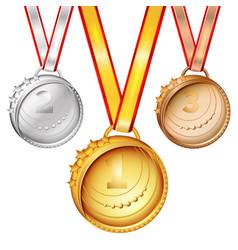 Sports medals set vector