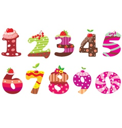 Sweet numbers vector image vector image
