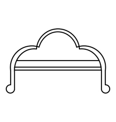 Sofa icon outline style vector