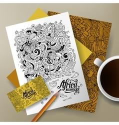 Cartoon cute doodles Africa corporate vector image
