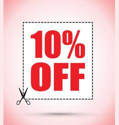 Ten percent off voucher vector