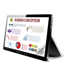 Business tablet comupter vector
