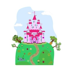 a magic castle vector image