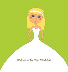 cartoon bride vector image