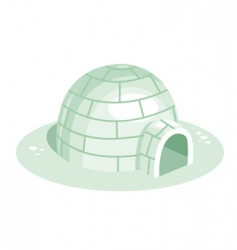 igloo vector image