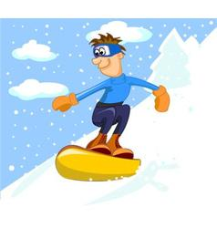Guy on a snowboard vector