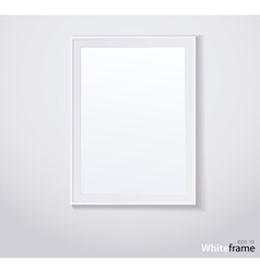 Stylish white photoframe vector