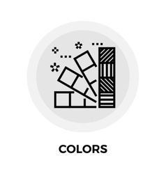 Colors line icon vector