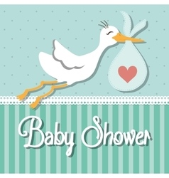 Baby shower design invitation concep colorful vector