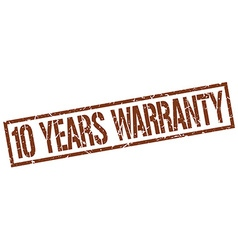 10 years warranty stamp vector