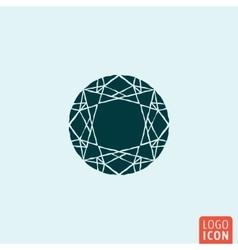Diamond jewelry icon vector