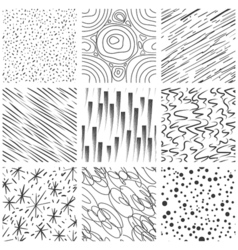 Abstract seamless texture patterns Simple lined vector image vector image