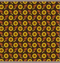 acorn oak leaf pattern on brown vector image vector image