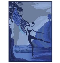 Angel scene vector image