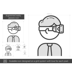 Augmented reality glasses line icon vector