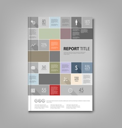 Brochures book or flyer with info graphic template vector image vector image