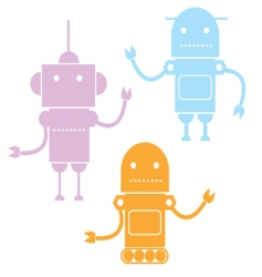 cartoon robots vector image vector image