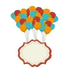 Circus balloons air icon vector