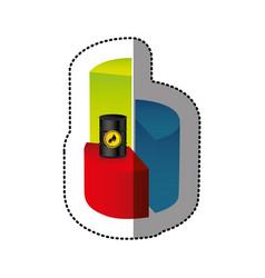Color data circular graph statistic with barrel of vector