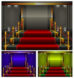 color pedestal vector image