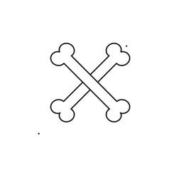 crossed bones icon vector image
