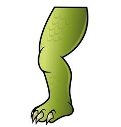 Dinosaur leg vector