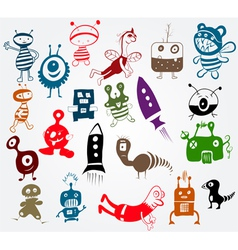 doodle characters vector image