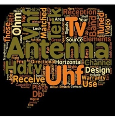 Hdtv antennas text background wordcloud concept vector