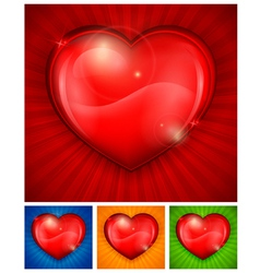 heart color background vector image vector image