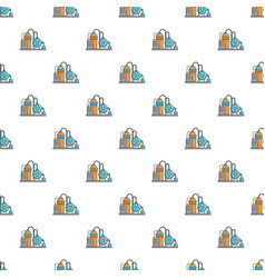 Industrial abstract machine pattern seamless vector