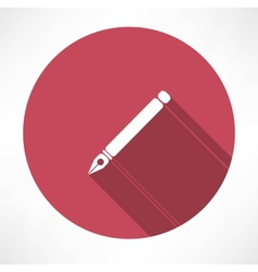 ink pen icon vector image vector image